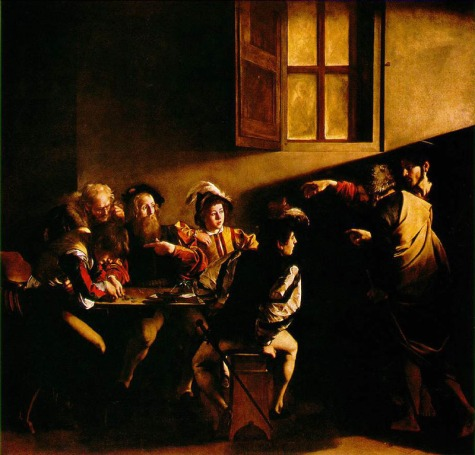 Caravaggio_calling_Matthew